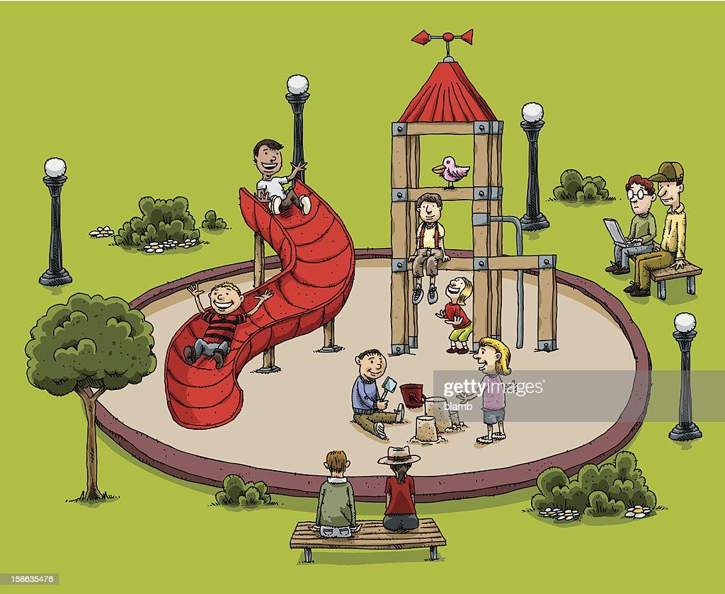 Cartoon Park Playground : Vector Art