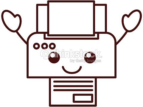 Tecnología De Impresora Dispositivo Papel Copia Hoja De Dibujos ...