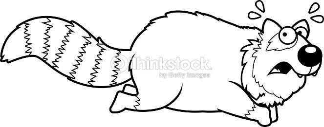 Dessin Animé Petit Panda Senfuyant Clipart Vectoriel