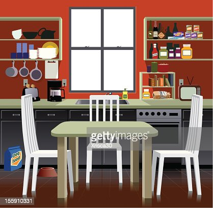 Cabinet stock illustrations and cartoons getty images for Cartoon kitchen cabinets