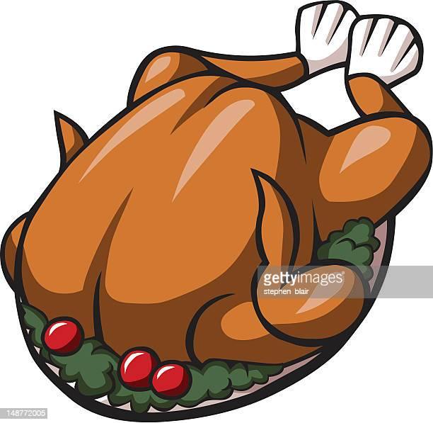 Illustrations et dessins anim s de poulet r ti getty images - Dessin de dinde ...