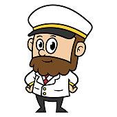 Cartoon Sea Captain Character