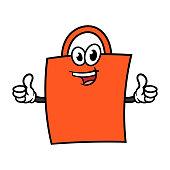 Cartoon Shopping Bag Character