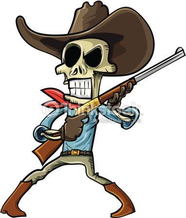 Dessin de cowboy skeleton clipart vectoriel thinkstock - Dessin de cowboy ...