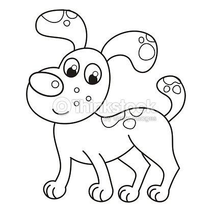 Sonriendo Dibujos Animados De Perro Cachorro Spotty Os Libro Para ...