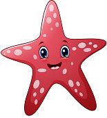 Vector illustration of Cartoon starfish