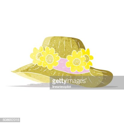 cartoon summer hat : Vector Art
