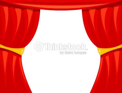 dessin anim du th tre rideau de th tre sur un fond blanc vecteur clipart vectoriel thinkstock. Black Bedroom Furniture Sets. Home Design Ideas