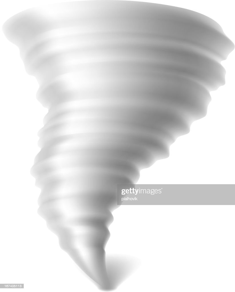 Cartoon tornado spinning on a white background : Vector Art