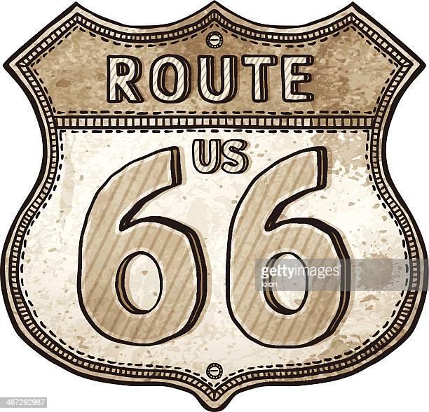 Illustrations et dessins anim s de route 66 getty images - Dessin de route ...