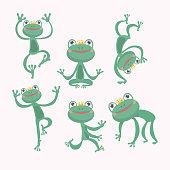 Cartoon Vector of Green frog.