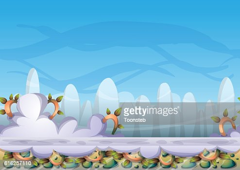 cartoon vector sky background with separated layers : Arte vetorial