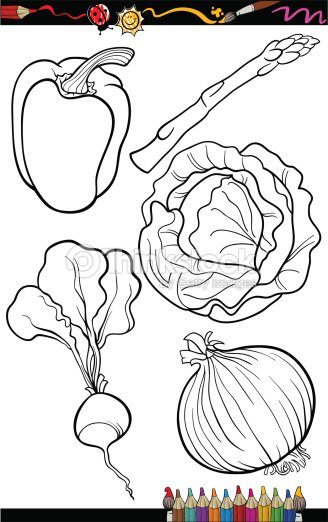 Coloriage Paprika Dessin Anime.Dessin Anime Legumes Ensemble Pour Livre De Coloriage Clipart