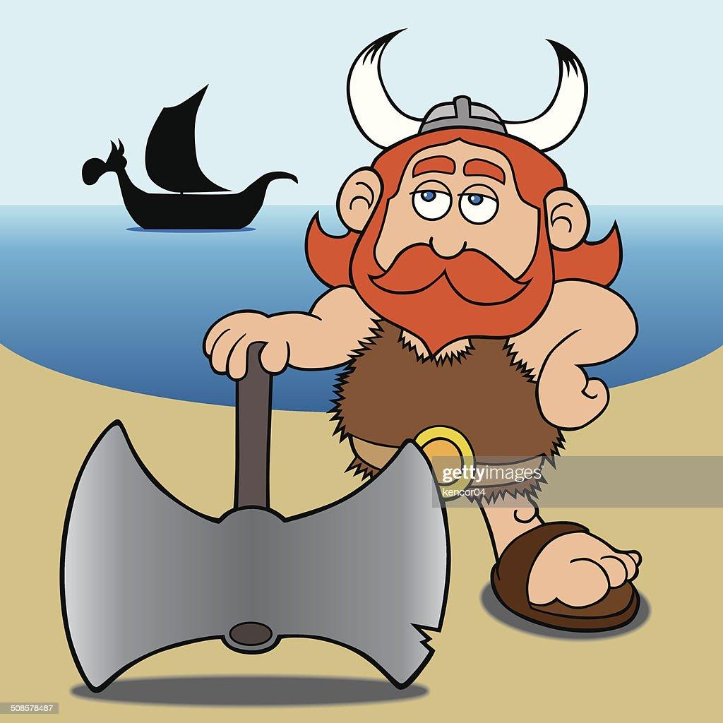 Cartoon Viking : Vector Art