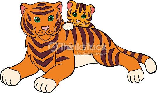 Tigre Gifs Animado: Dibujos Animados Animales Salvajes Para Niños Tigre Madre