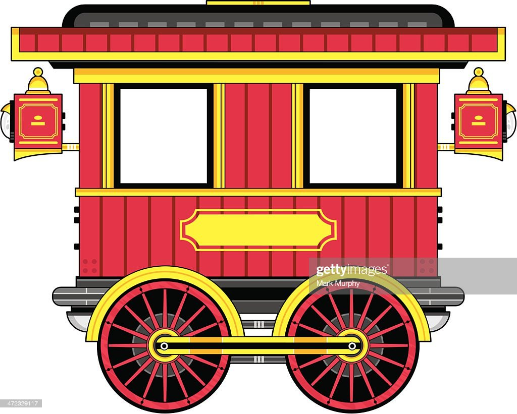 cartoon wild west train carriage vector art getty images