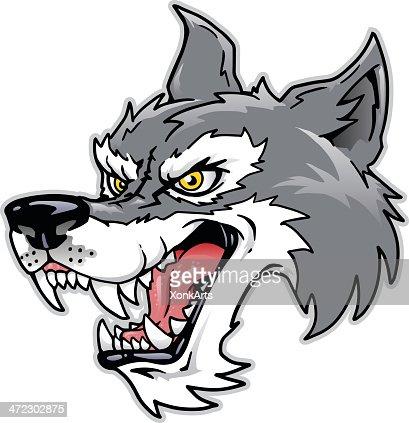 T te de loup en dessin anim clipart vectoriel getty images - Tete de loup dessin ...
