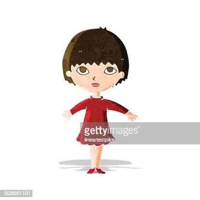 cartoon woman in dress : Vector Art