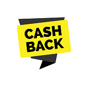 Cash back lettering. Retail inscription with creative shapes. Handwritten text, calligraphy. Can be used for postcards, posters and leaflets