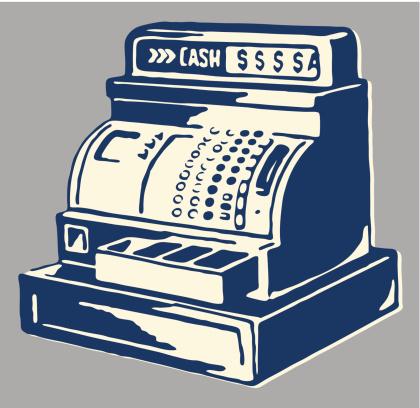 Old Cash Register Vector