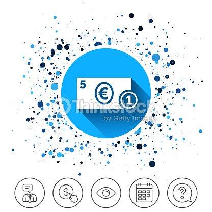 Cash Sign Icon Euro Money Symbol Coin Vector Art Thinkstock