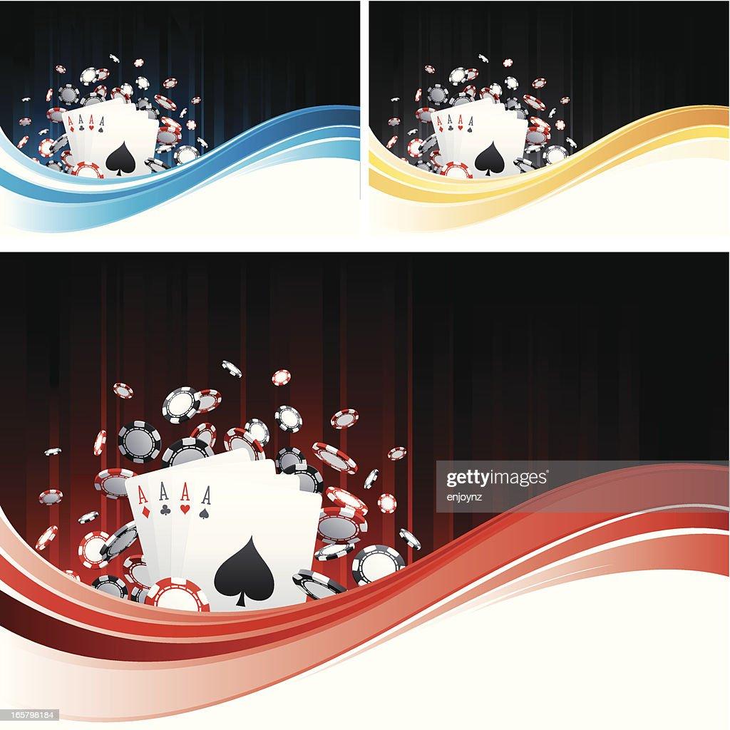 Casino flow backgrounds : Vector Art