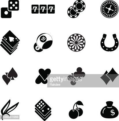 Jeton de poker icône