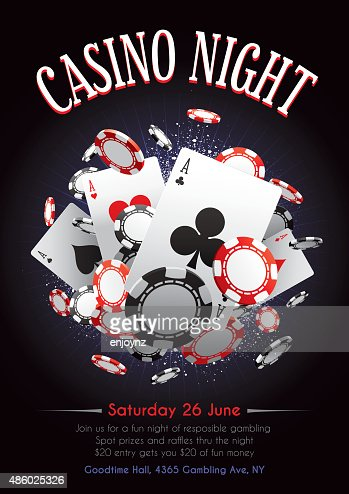 casino night poster vector art getty images
