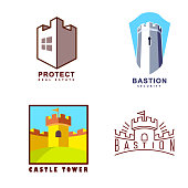 Castle tower real estate, guard agency or protect system