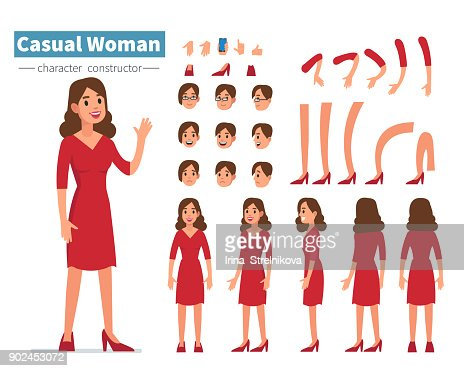 casual woman : stock vector