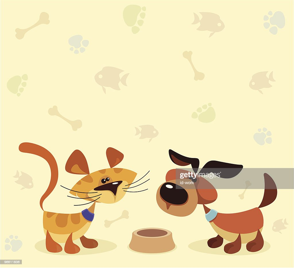 cat and dog : Vector Art