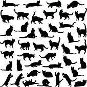 Cat silhouette illustration