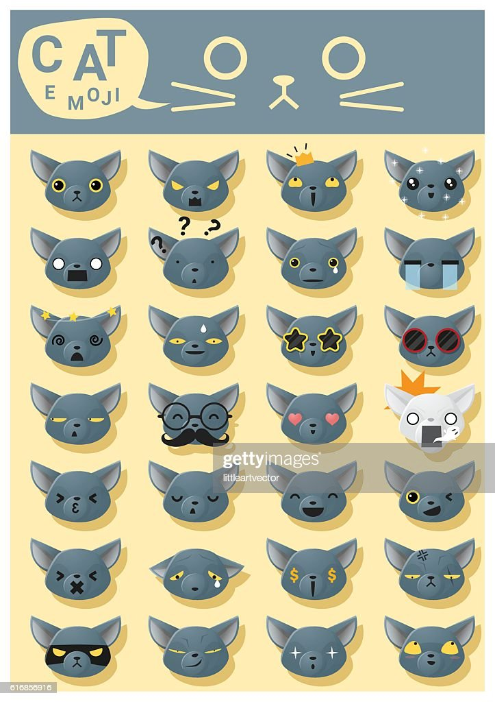 Cat emoji icons 5 : Vector Art