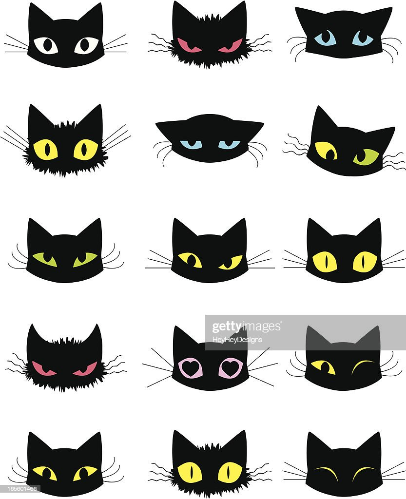 cat emoticons vector art