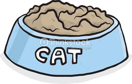 cat food bowl vector art thinkstock