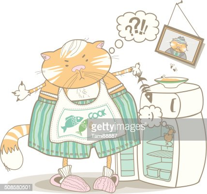 cat householder : Vector Art