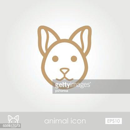 Icono de gato : Arte vectorial