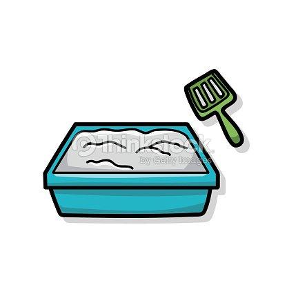 chat une bo te liti re doodle clipart vectoriel thinkstock. Black Bedroom Furniture Sets. Home Design Ideas