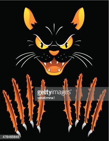 cat scratch fever vector art | getty images, Skeleton
