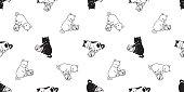 cat seamless pattern vector kitten calico goldfish dozen scarf isolated cartoon tile wallpaper repeat background illustration doodle design