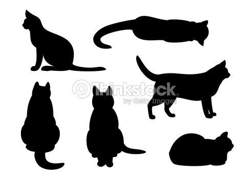 Cat Petting Silhouette
