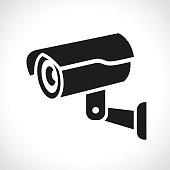 Illustration of cctv camera on white background