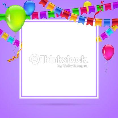 Farbigen Hintergrund Mit Bunten Luftballons Auf Farbigem Hintergrund ...