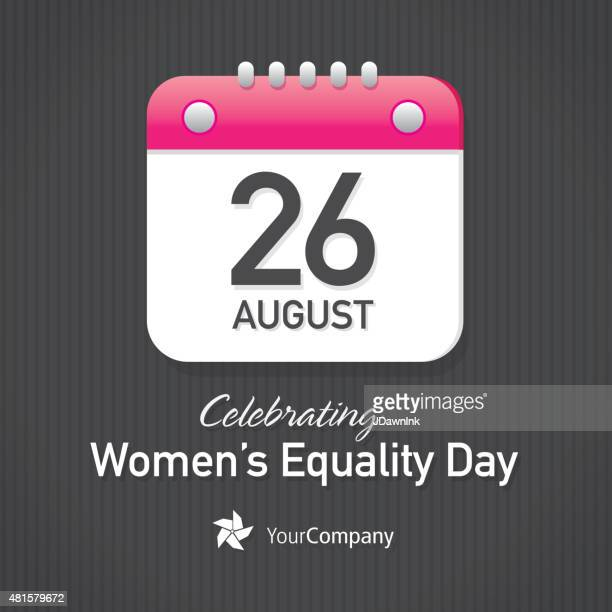 Celebrating Women's Equality Day Calendar design layout template