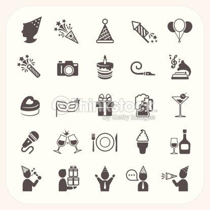 Set Di Icone Di Celebrazione E Di Festa Arte vettoriale  befe26ed247c