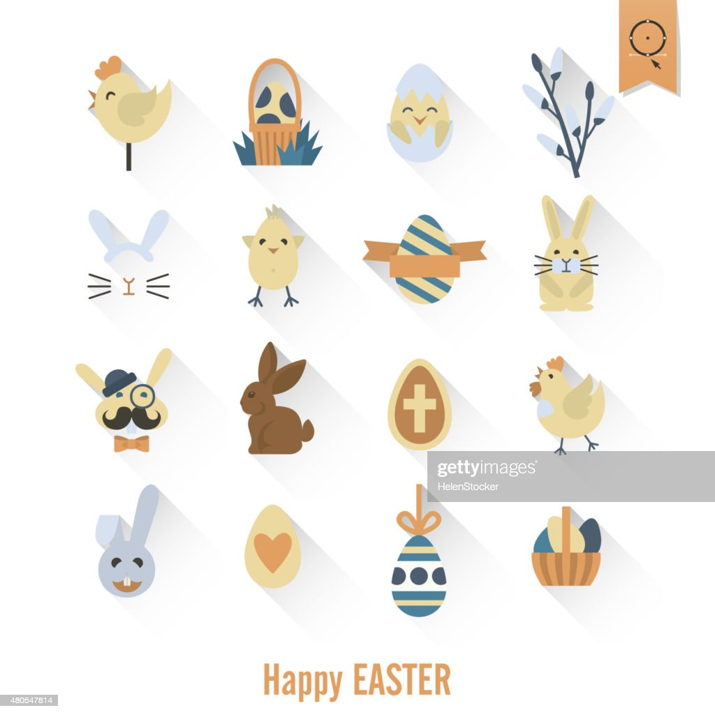 Celebration Easter Icons : Vector Art