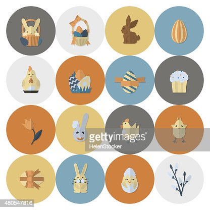 Celebración de los iconos de pascua : Arte vectorial