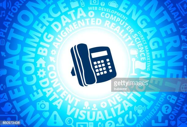 Cell Phone Icon on Internet Modern Technology Words Background