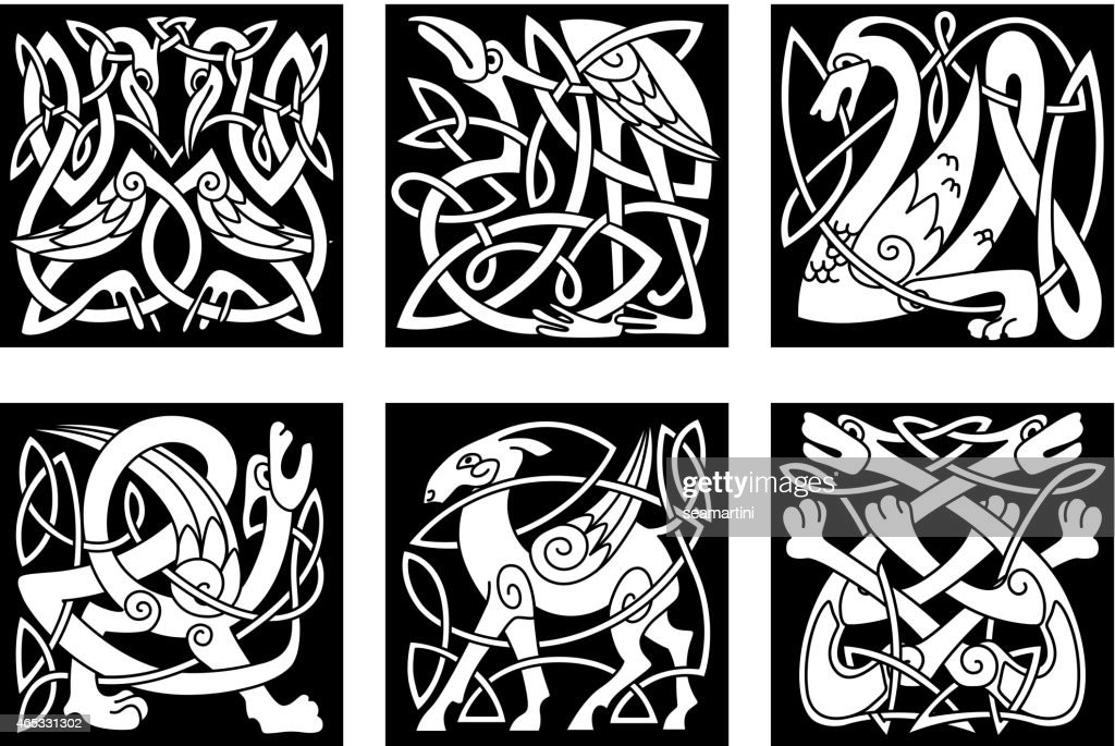 Vector Line Art Animals : Collection of endangered animals drawing high quality free