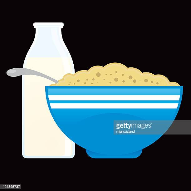 Bowl Of Cornflakes And Milk シリアルのイラ�...